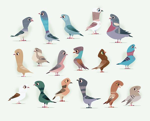 Character Design Job London : Pigeon game on behance