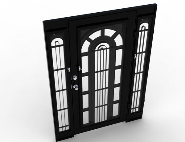 Puerta de forja on behance for Puertas correderas de forja
