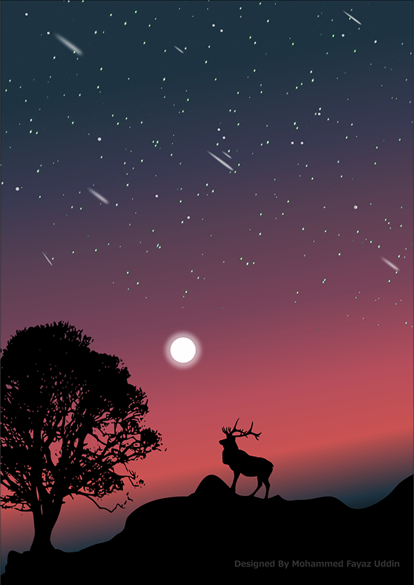 Night Scene Wallpaper For Iphone Samsung Mi Vector On Wacom Gallery