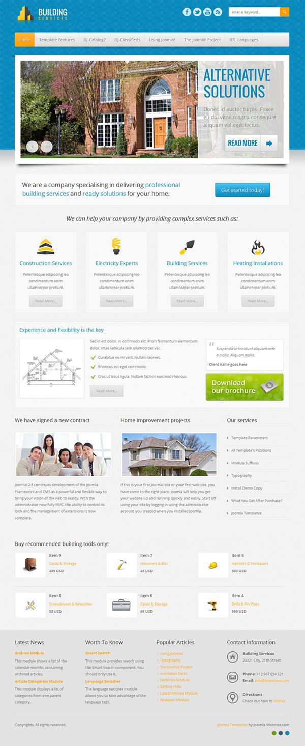 JM-Building-Services Joomla 3.x & 2.5 template on Behance