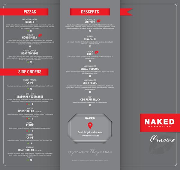 proposed designs menu on behance