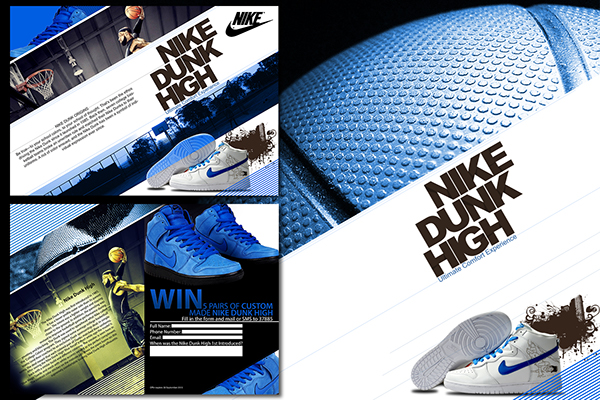 Nike dunk high brochure on behance for Nike brochure design