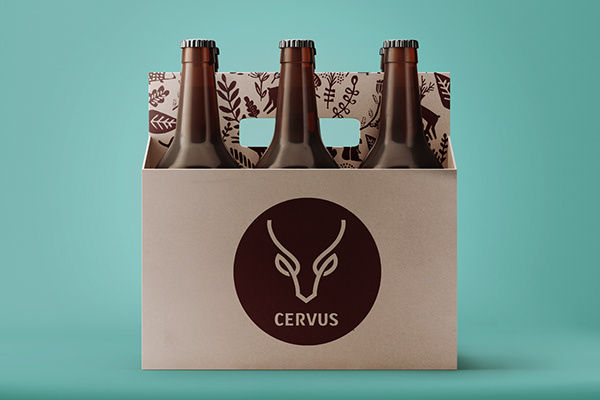 Cervus - Diseño de etiqueta para marca de cerveza