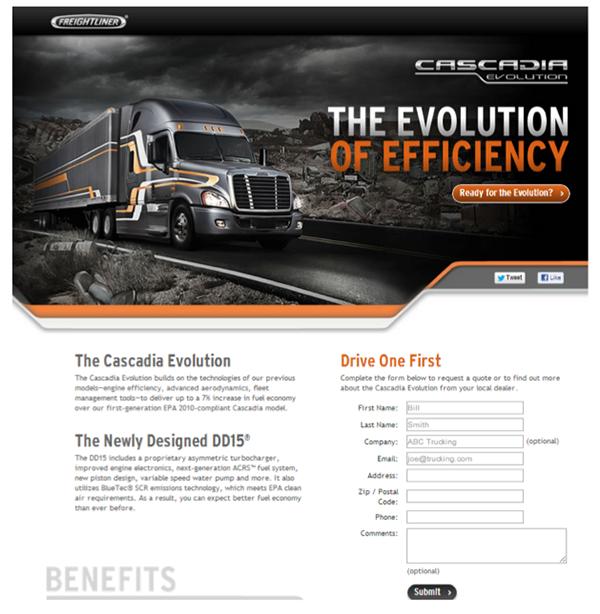 Freightliner Cascadia Evolution Launch | Social Media on Behance