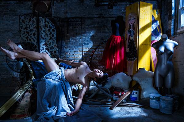 secret cinematic lighting drama male nude self portrait portrait body greek roman homoerotic gay