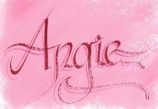 Calligraphy lettering name quot angie on behance