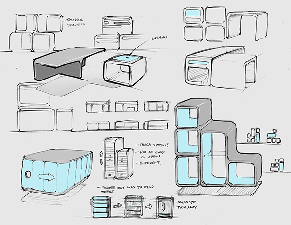 Ideation Drawings On Student Show