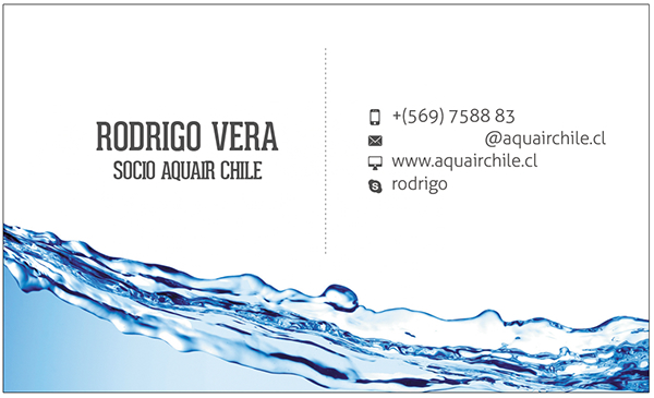 brand design business card print high res graphics clean water aqua corporate