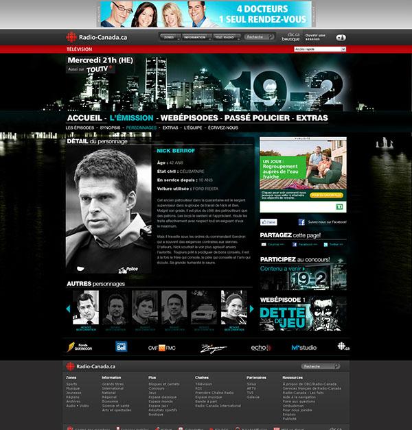 19-2 saison 1 Radio-Canada serie télé