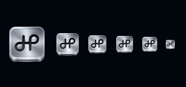 Icon handras app iphone app icon application drive metal brushed metal command letter h apple mac