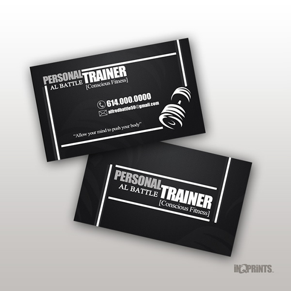 Personal trainer al battle business card on behance for Sample personal trainer business cards