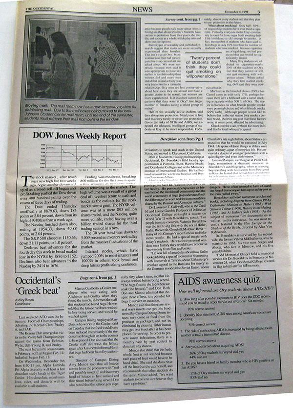 The Occidental, December 4, 1998 on Behance