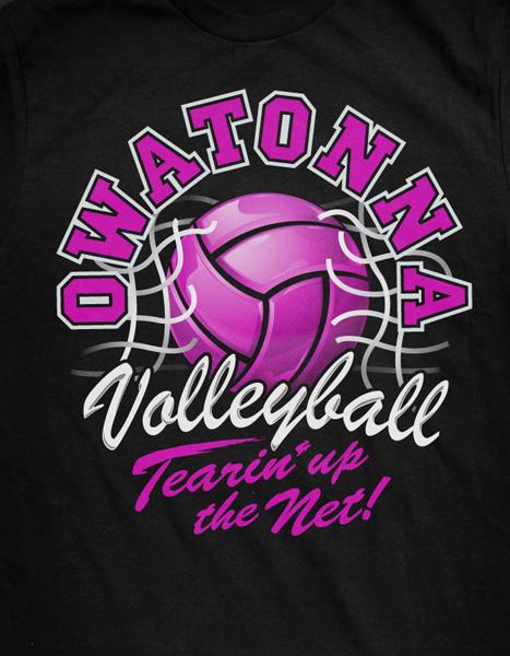 illusration design ohs volleyball t shirt on behance