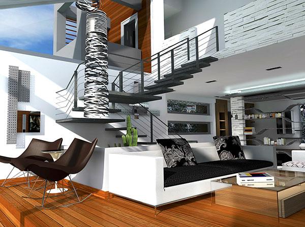 Residence villa interior mont liban lebanon on behance for Interior design jobs in lebanon