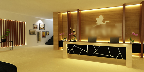 Hotel reception on behance for Design reception hotel