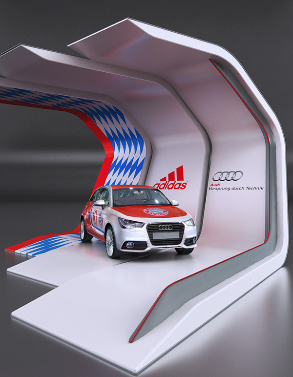 Exhibition Stand Car : Audi adidas fair stand on behance