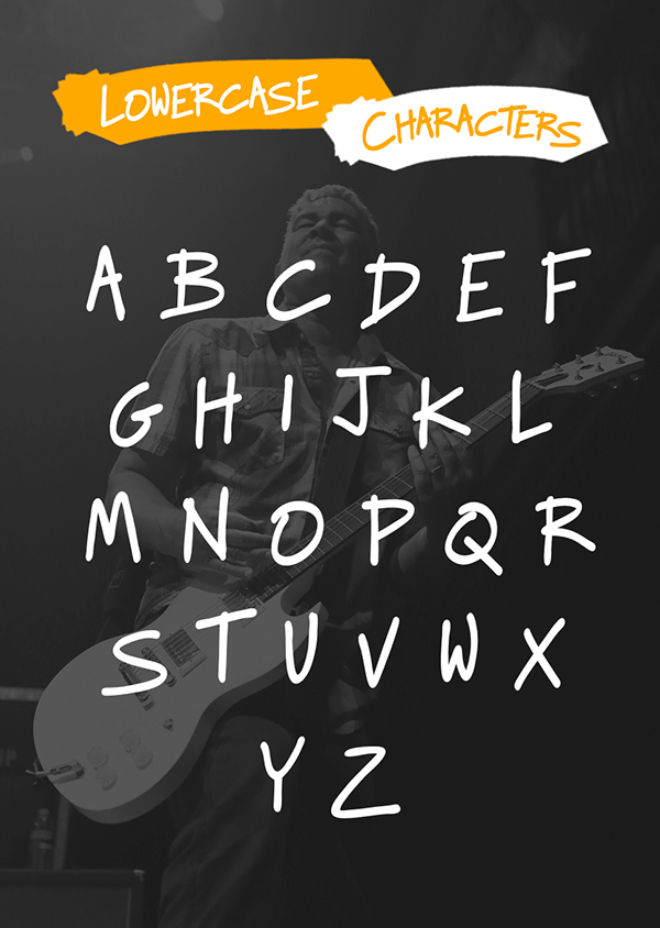 Raggedways free Typeface foo fighters handmade hand Dave Grohl Taylor Hawkins Nate Mendel Pat Smear Chris Shiflett download