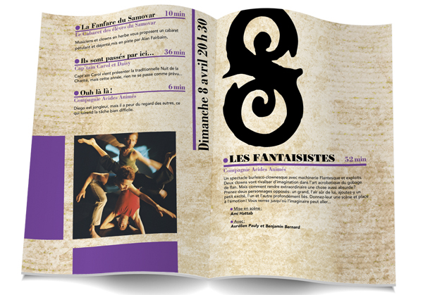 brochure livret Carnet cirque Circus Booklet Program programme textures texture Ancient old style old cafe the