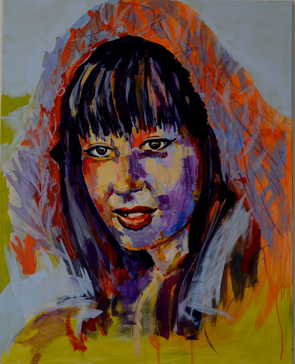 portrait acryl faces
