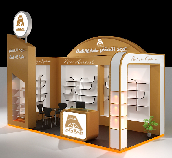 Logo Mockup With Emboss Logo: 3D Exhibition Stands Layouts On Behance
