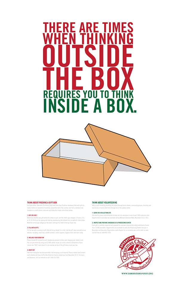 Poster explaining the process of packing and sending a gift. Copy ...