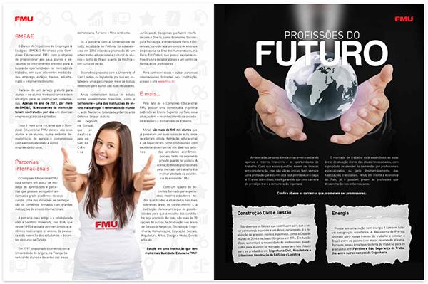 FMU, university, Diagramação,magazine