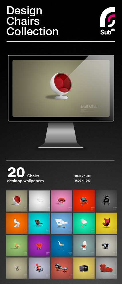 Design Chair Collection Free Desktop Wallpapers On Behance