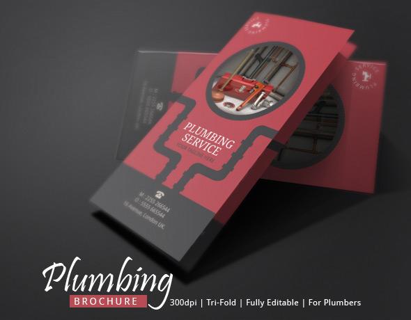 Brochure Template for Plumber   Modern Design