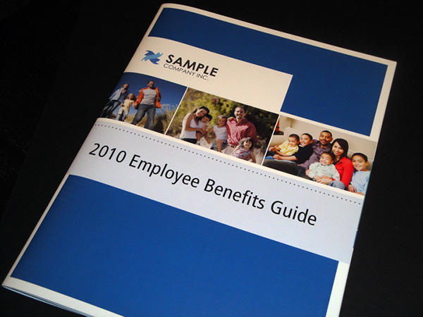 employee benefits guide on behance