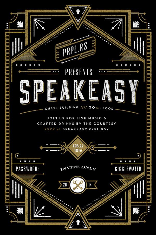 Secret Speakeasy Invitation on Behance