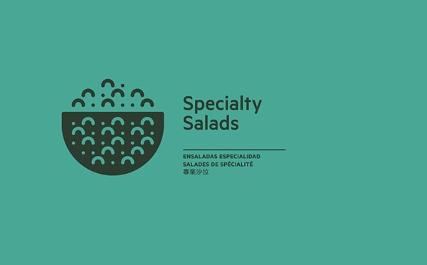 restaurant tag collective salads Food  menu Manhattan identity logo International modern New York