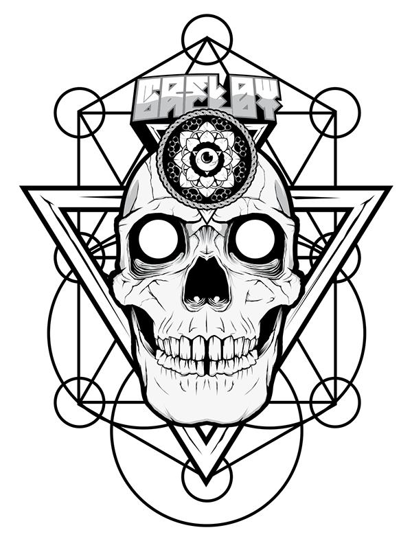 Skull Geometric Mandala on Behance