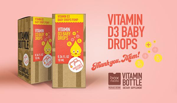 D3 Vitamin - package design for Vitamin Bottle on Pantone