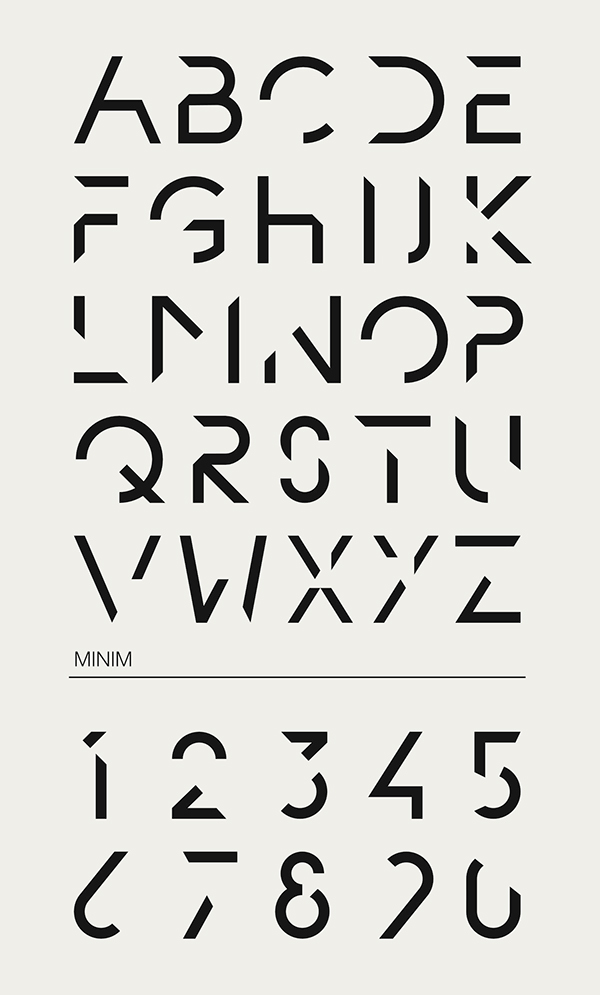 Minim on behance Minimalist typography