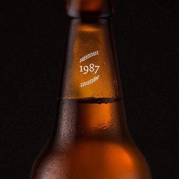 Packaging beer Label organic poster bottle