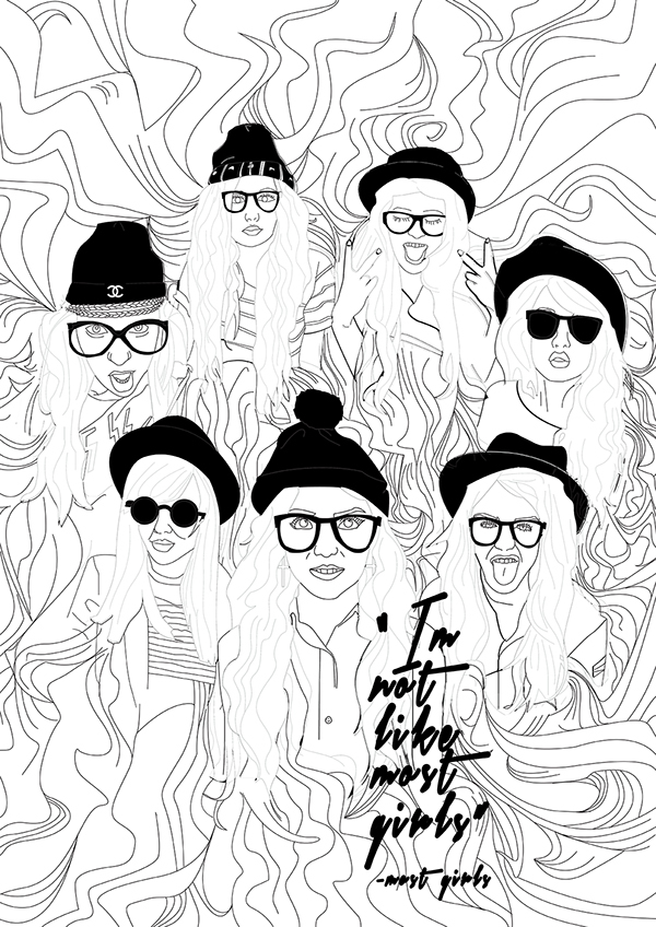 Urban Hipster Drawings Hipsters