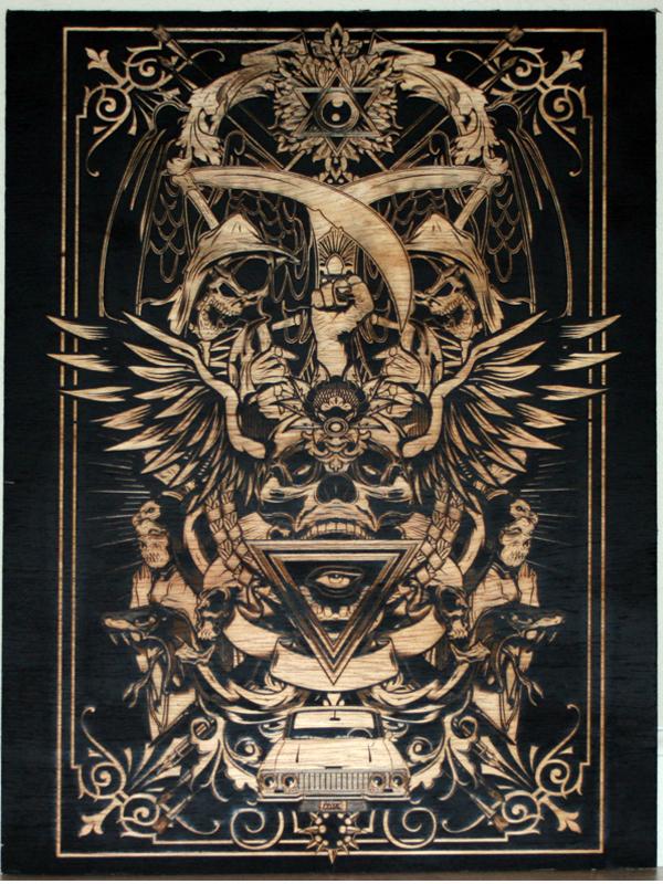 laser etching on wood
