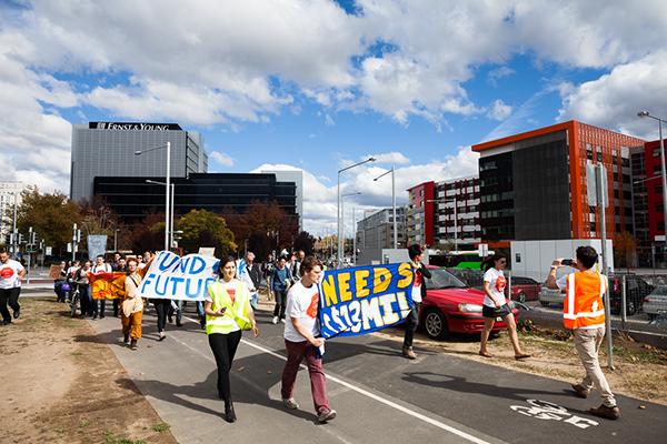 protest Australian National University student activism student anu canberra Australia ANUSA Government activism march