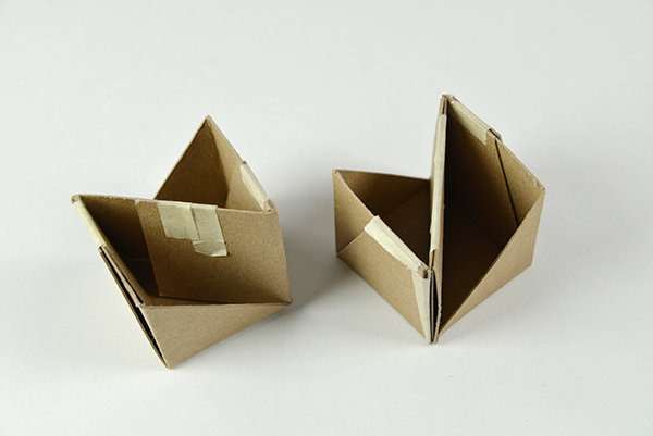 Flat Pack Cardboard Stool On Risd Portfolios