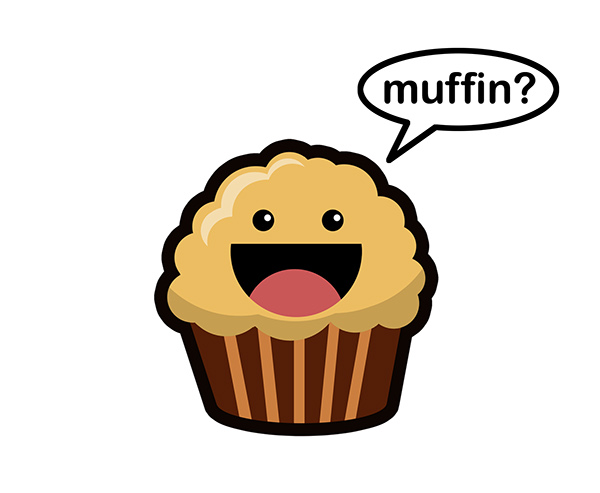 Muffin men on behance for Cute muffin drawing