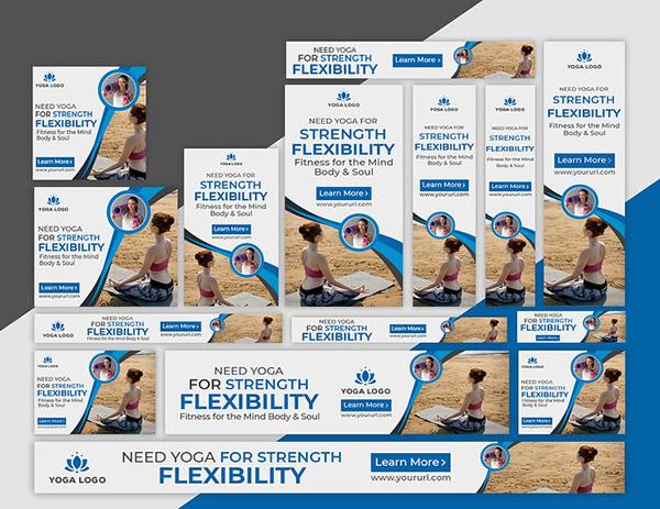 Yoga Web Banner Or Banner Ads Design On Student Show
