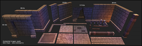 Handpainted dungeon - assets on Behance