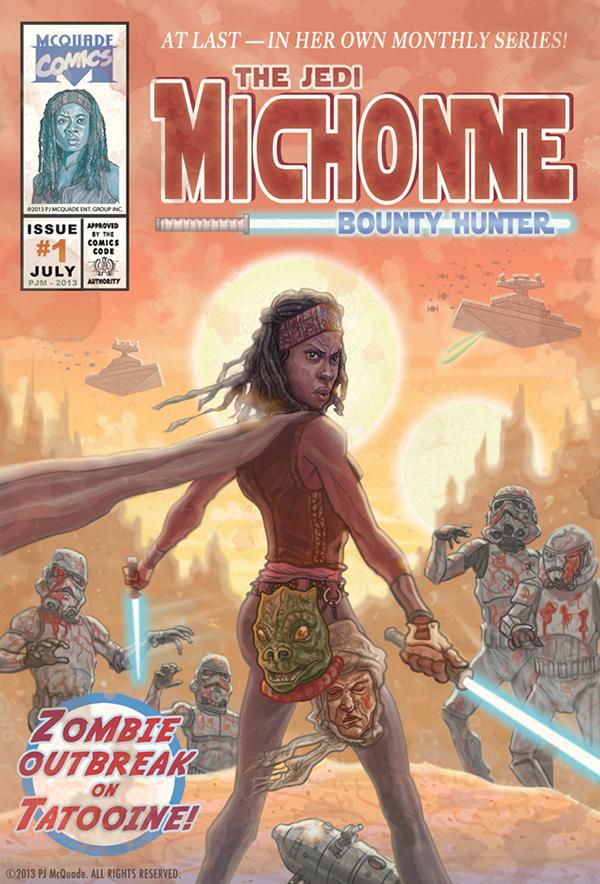 Michonne Walking Dead/Star Wars Mashup by PJ McQuade