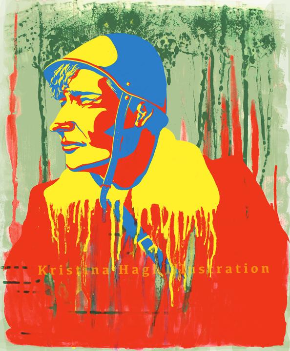 ILLUSTRATION  cover illustration Editorial Illustration soldat soldier War Krieg Helmet blood Minimalism