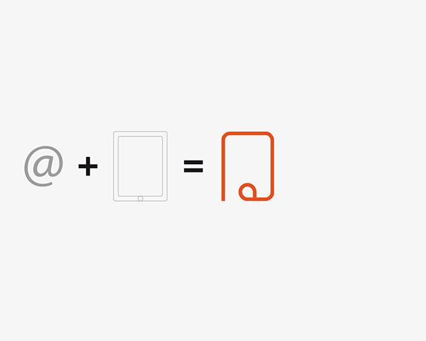 Typographie identity refont rebranding orange black corporate visitcard brochure typo font futur tab pad