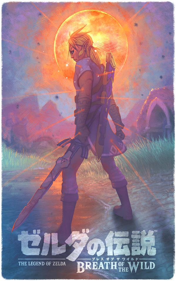 The Legend of Zelda Poster Breath of The Wild 24x36