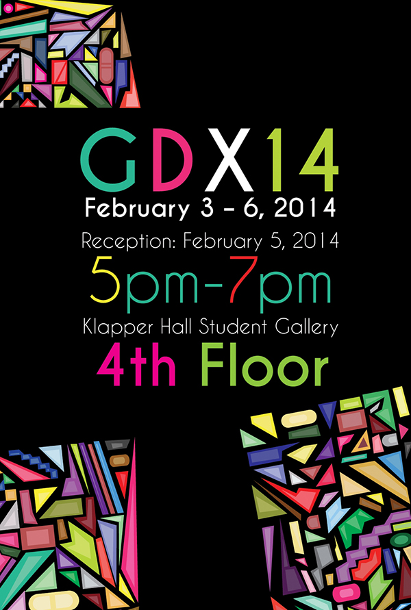 2014 Graphic Design Exhibition Poster Pattern Typography
