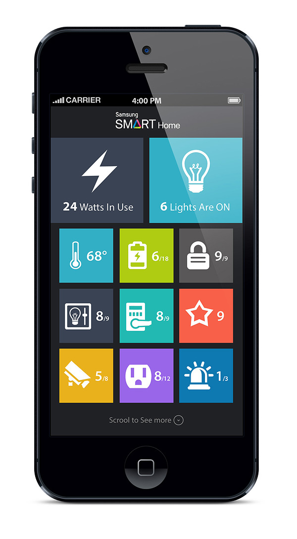 samsung smart home app concept on behance