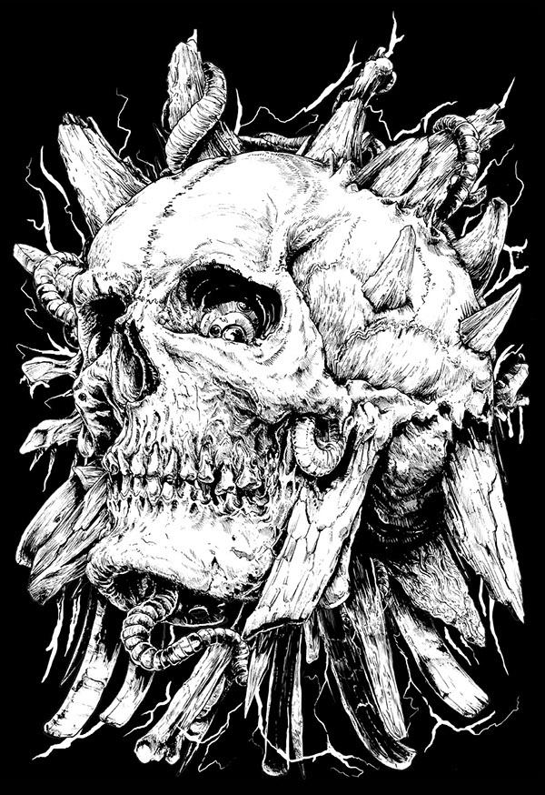 More skulls... by Rafal Wechterowicz
