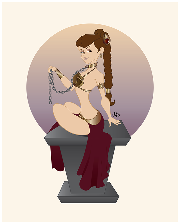 Slave Leia on Pantone Canvas Gallery Jabba The Hutt Costume Commercial